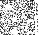 vector seamless pattern.... | Shutterstock .eps vector #1189473160