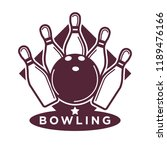 bowling tournament poster or... | Shutterstock . vector #1189476166