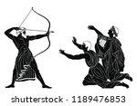 mythological story of homer.... | Shutterstock .eps vector #1189476853