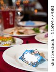 banquet cards for seating... | Shutterstock . vector #1189477480
