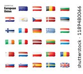 flags of the european union.... | Shutterstock .eps vector #1189480066