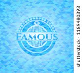 famous sky blue emblem with... | Shutterstock .eps vector #1189480393