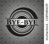 bye bye black emblem. vintage. | Shutterstock .eps vector #1189480639