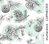 realistic botanical ink sketch... | Shutterstock .eps vector #1189481503