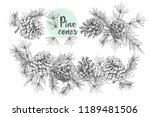 set card template with pattern... | Shutterstock .eps vector #1189481506