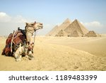 panoramic view of the pyramids... | Shutterstock . vector #1189483399