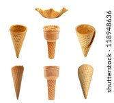 ice cream cones collection with ... | Shutterstock . vector #118948636