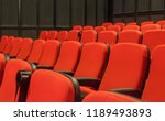 red chair in theater. | Shutterstock . vector #1189493893