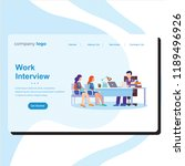 landing page with work... | Shutterstock .eps vector #1189496926