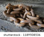 rusty steel chain. | Shutterstock . vector #1189508536