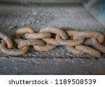 rusty steel chain. | Shutterstock . vector #1189508539