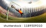 gatekeeper children soccer... | Shutterstock . vector #1189509310