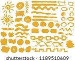 solar design elements. vector...   Shutterstock .eps vector #1189510609