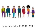 set of  people  collection of... | Shutterstock .eps vector #1189511899