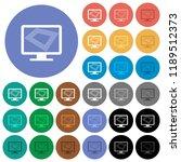 screen saver on monitor multi... | Shutterstock .eps vector #1189512373