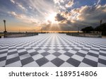 sunset in the square | Shutterstock . vector #1189514806