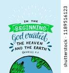 hand lettering in the beginning ... | Shutterstock .eps vector #1189516123