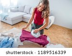 Women Ironing. Beautiful Women...