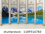 3d wallpaper design with... | Shutterstock . vector #1189516783