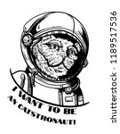 cat in a spacesuit isolated | Shutterstock .eps vector #1189517536