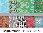 collection of seamless patterns.... | Shutterstock .eps vector #1189518316