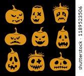 happy halloween collection of... | Shutterstock .eps vector #1189523506