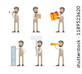 vector young adult hipster man...   Shutterstock .eps vector #1189523620