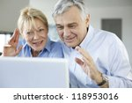 senior couple connected with... | Shutterstock . vector #118953016