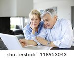 senior couple connected with... | Shutterstock . vector #118953043