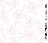 flower seamless pattern with... | Shutterstock .eps vector #1189530589