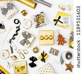flat lay christmas or party... | Shutterstock . vector #1189531603