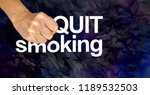 stamp out smoking   female hand ... | Shutterstock . vector #1189532503