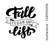 fall clean up list vector... | Shutterstock .eps vector #1189533556