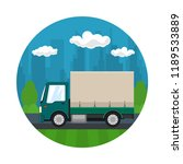 icon of transportation and... | Shutterstock . vector #1189533889