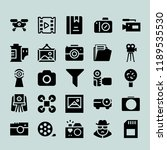 photograph icon set. film roll...   Shutterstock .eps vector #1189535530
