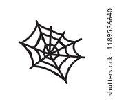 spider web icon. spider web... | Shutterstock .eps vector #1189536640