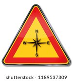compass  compass rose and... | Shutterstock . vector #1189537309