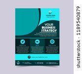 corporate business cyan flyer... | Shutterstock .eps vector #1189540879