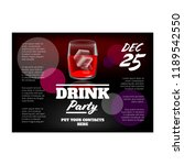 alcohol party flyer | Shutterstock .eps vector #1189542550