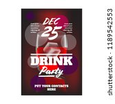 alcohol party flyer | Shutterstock .eps vector #1189542553