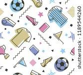 soccer memphis style seamless...   Shutterstock .eps vector #1189544260