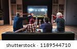group of fans are watching a... | Shutterstock . vector #1189544710