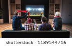group of fans are watching a... | Shutterstock . vector #1189544716