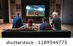 group of fans are watching a... | Shutterstock . vector #1189544773