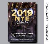 2019 party flyer poster vector. ... | Shutterstock .eps vector #1189549960