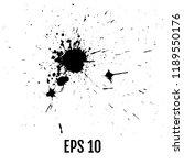 ink splashes  ink blots ... | Shutterstock .eps vector #1189550176