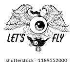 let's fly. vector hand drawn... | Shutterstock .eps vector #1189552000