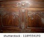 old antique mahogany cabinet... | Shutterstock . vector #1189554193