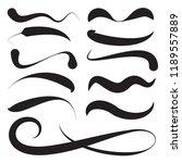 hand lettering underlines set.... | Shutterstock .eps vector #1189557889