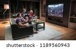 group of fans are watching a... | Shutterstock . vector #1189560943